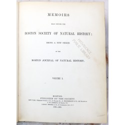 Memoirs read before the Boston society of natural history