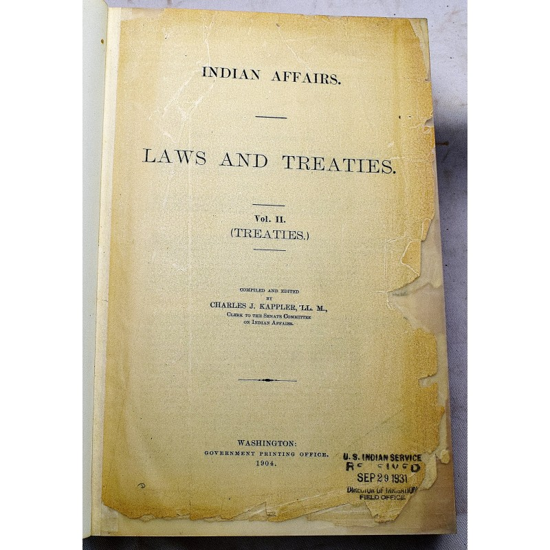 INDIAN AFFAIRS LAWS AND TREATIES PDF DOWNLOAD