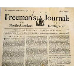 The Freeman's Journal, or, The North-American Intelligencer. No. 34 (Wednesday, December 12, 1781)