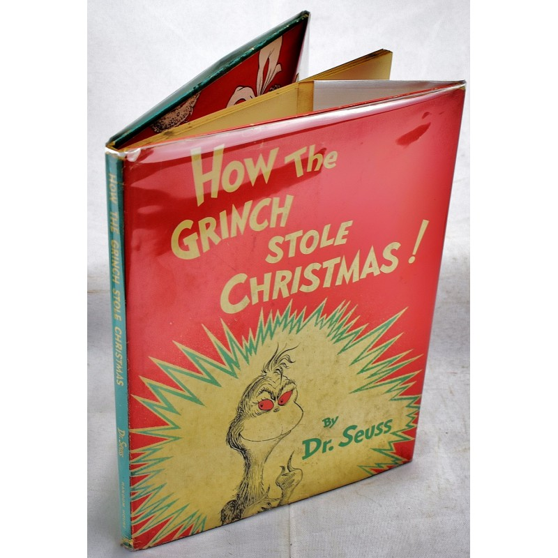 How The Grinch Stole Christmas Book Cover.How The Grinch Stole Christmas 1st Ed In Jacket