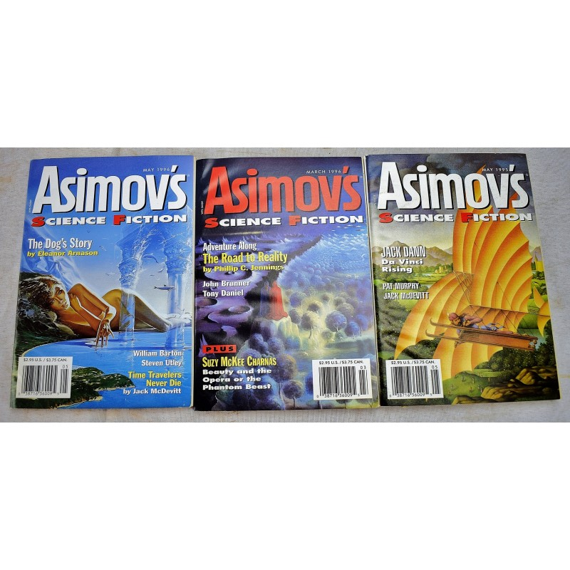 Asimov's Science Fiction Magazine (134 issue set) (Hugo & Nebula Award  Winners)