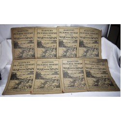 Harper's Pictorial History of the War with Spain (8 parts, issues)