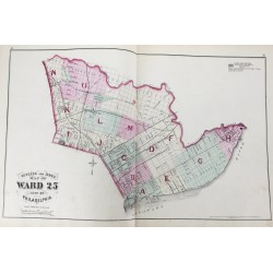 Atlas of the city of Philadelphia : 25th ward, from official records, private plans, and actual surveys (Volume 4)